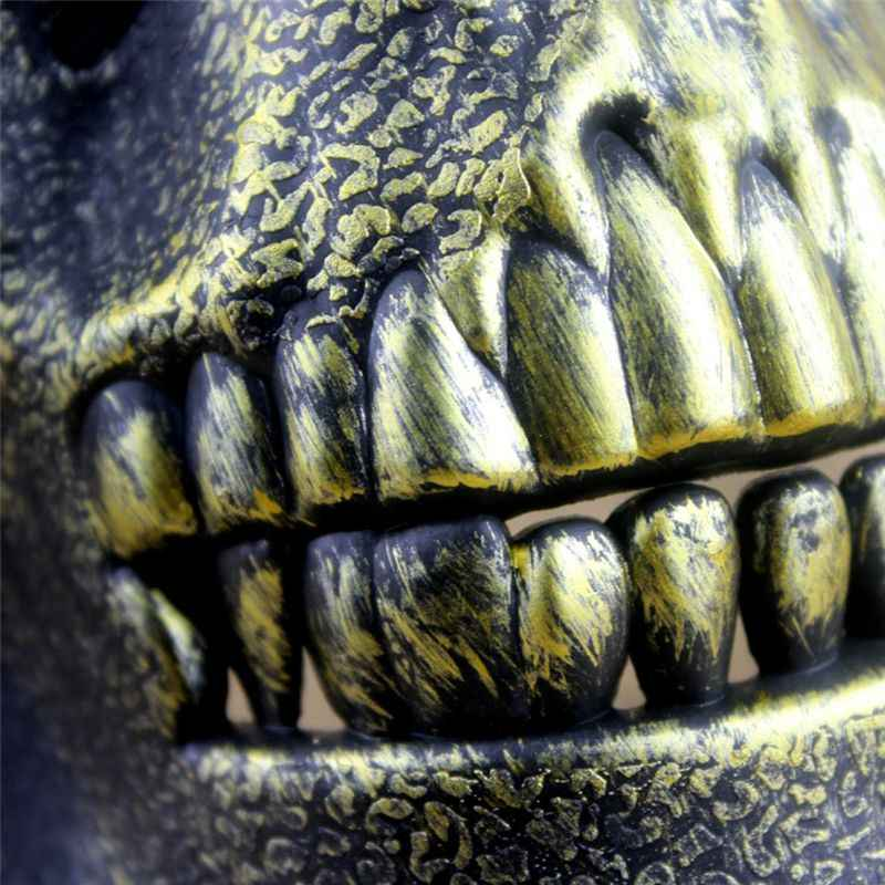 Minch assustador máscara de halloween crânio esqueleto máscara traje metade máscaras para festa cospaly