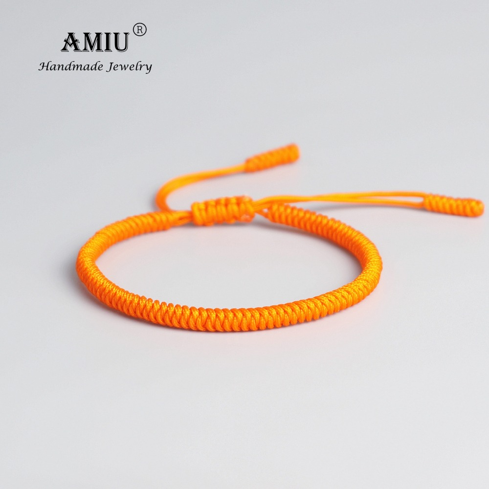 AMIU Tibetan Buddhist Lucky Charm Tibetan Bracelets & Bangles For Women Men Handmade Knots Original Rope Christmas Gift Bracelet