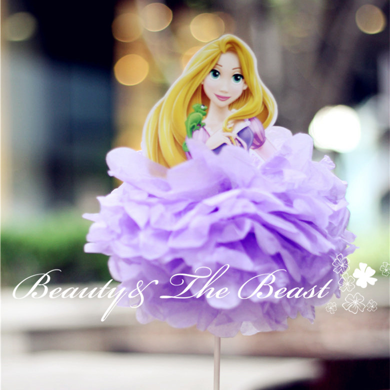 high tangled princess cake toppers cupcake picks tutu cake table party supplies birthday party decorations kids baby shower