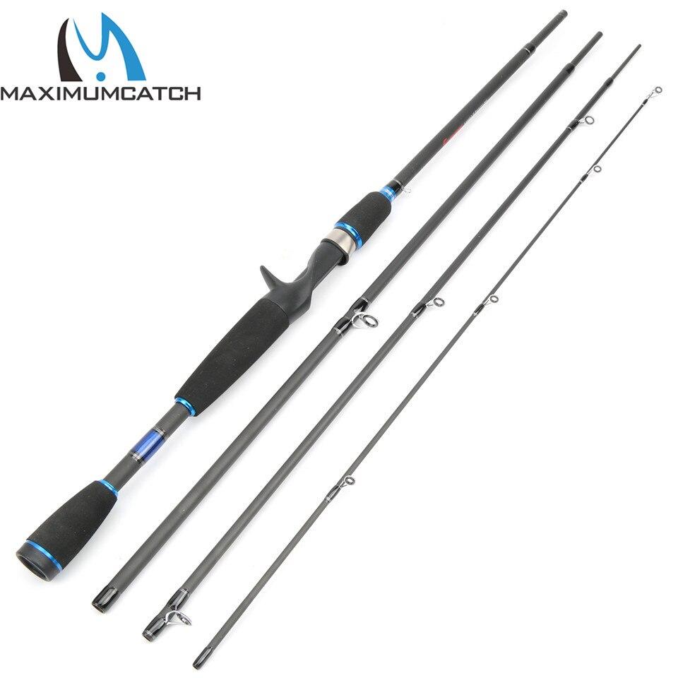 Maximumcatch 7'9 20-80g Baitcasting Fishing Rod Portable Travel Fishing Rod Casting Graphite Rod 4pcs