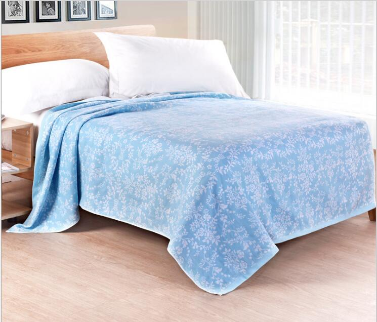 2017 New Cotton Towel Blanket -1PC 100% Cotton Blanket on Bed Jacquard Throw Blanket Air-Condition Blanket