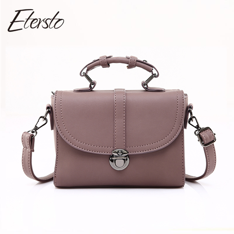Etersto 2017 Bolsa Feminina Women Bag Leather Handbag For Teenager Girl Fashion Women Messenger Bags Luxury Ladies vogue star women bag for women messenger bags bolsa feminina women s pouch brand handbag ladies high quality girl s bag yb40 422