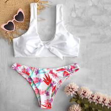 3439646d9f1 Women Print Push-Up Padded Bra Beach Bikini Set Swimsuit Beachwear Swimwear  New Arrival Promotional