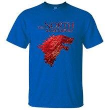 El Norte recuerda Juego de tronos casa Stark T camisas de verano 2019 Venta caliente 100% Camiseta de algodón Casual los hombres de la marca camiseta