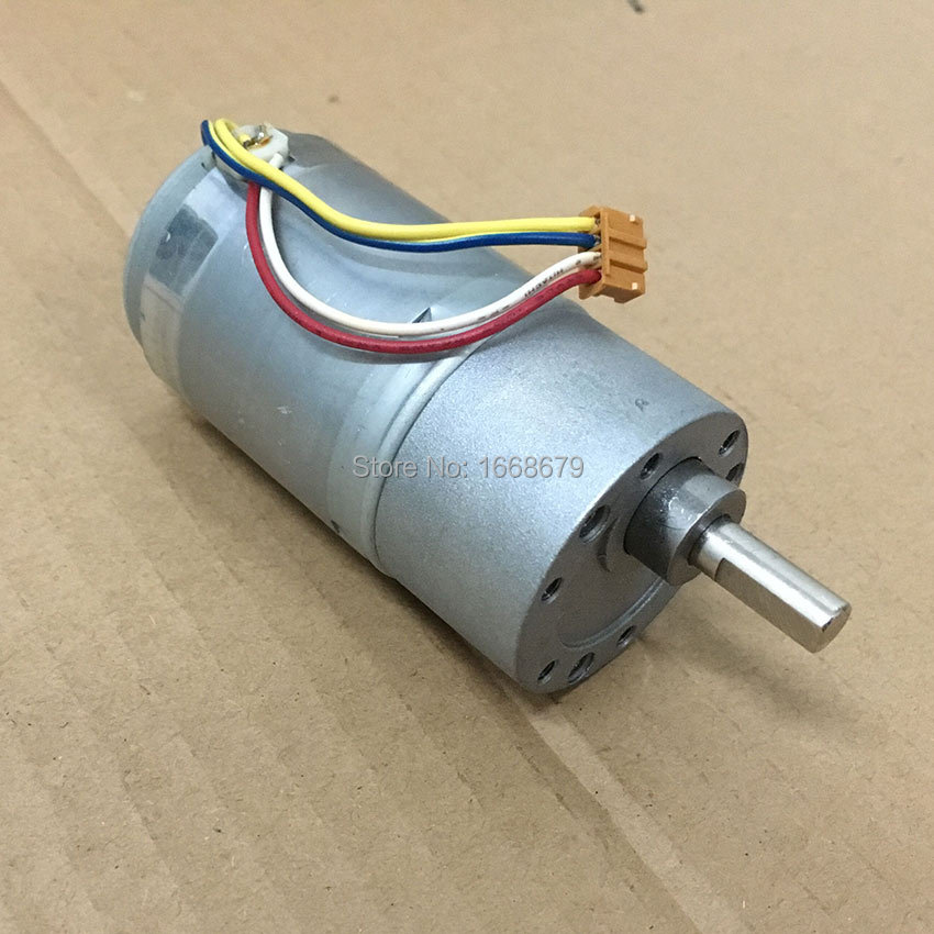 Gear electric 12v dc encoder motor 37mm 100rpm 100ma 37gb for Most powerful electric motor