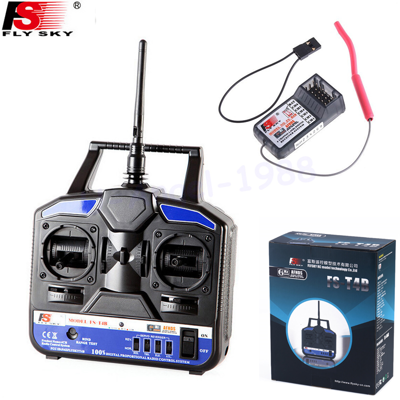 1pcs Original RC Helicopter Airplane Remote control Flysky FS 2.4G 4CH FS-CT4B FS-T4B Radio RC Transmitter & Receiver free shipping from us 95inch 2413mm oracover film silence twister 50cc remote control balsa wood rc airplane kits arf