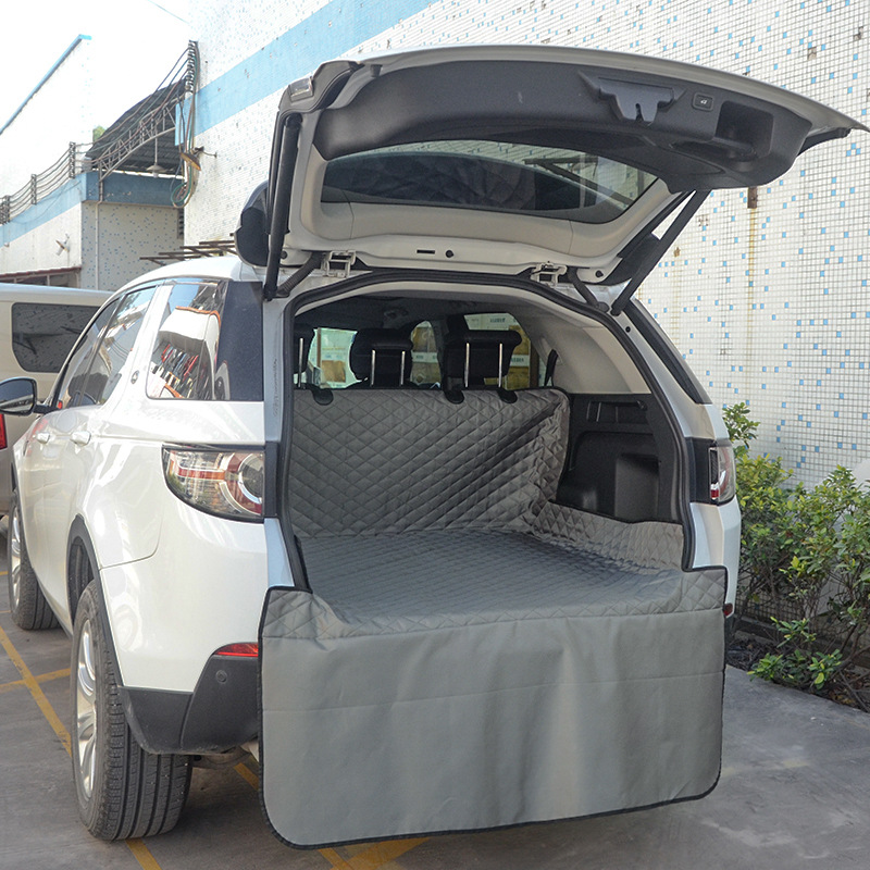 Mata do bagażnika dla zwierząt plandeka wodoodporna tkanina oxford Dog Cat tylne pokrowce tylne Auto Pad ochrona na pas samochodowy koc