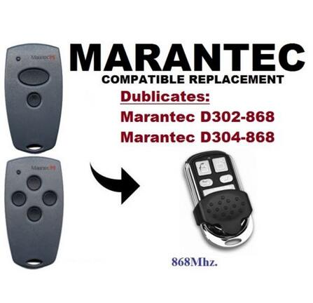 Marantec D302,D304 868Mhz Garage Door/Gate Remote Control Replacement/Duplicator free shipping