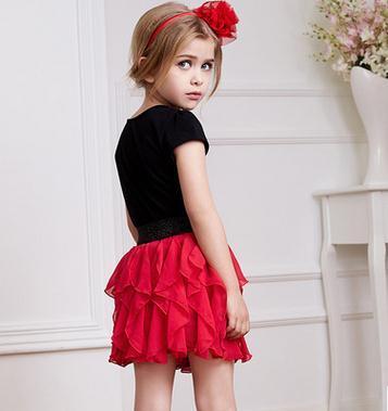2017 niños ropa de niños encantadores desgaste nueva falda de verano niños niñas falda de gasa plisada HZ-1506