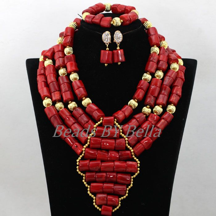 2017 Latest Coral Beads African Wedding Jewelry Set Bridal Jewelry Women Nigerian Beaded Necklaces Sets Free Shipping ABK0642017 Latest Coral Beads African Wedding Jewelry Set Bridal Jewelry Women Nigerian Beaded Necklaces Sets Free Shipping ABK064