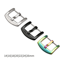 10PCS/Lot 14mm 16mm 18mm 20mm 22mm 24mm 26mm Watch Buckle Replacement Watch Accessories Stainless Steel Silver Black Colorful недорого