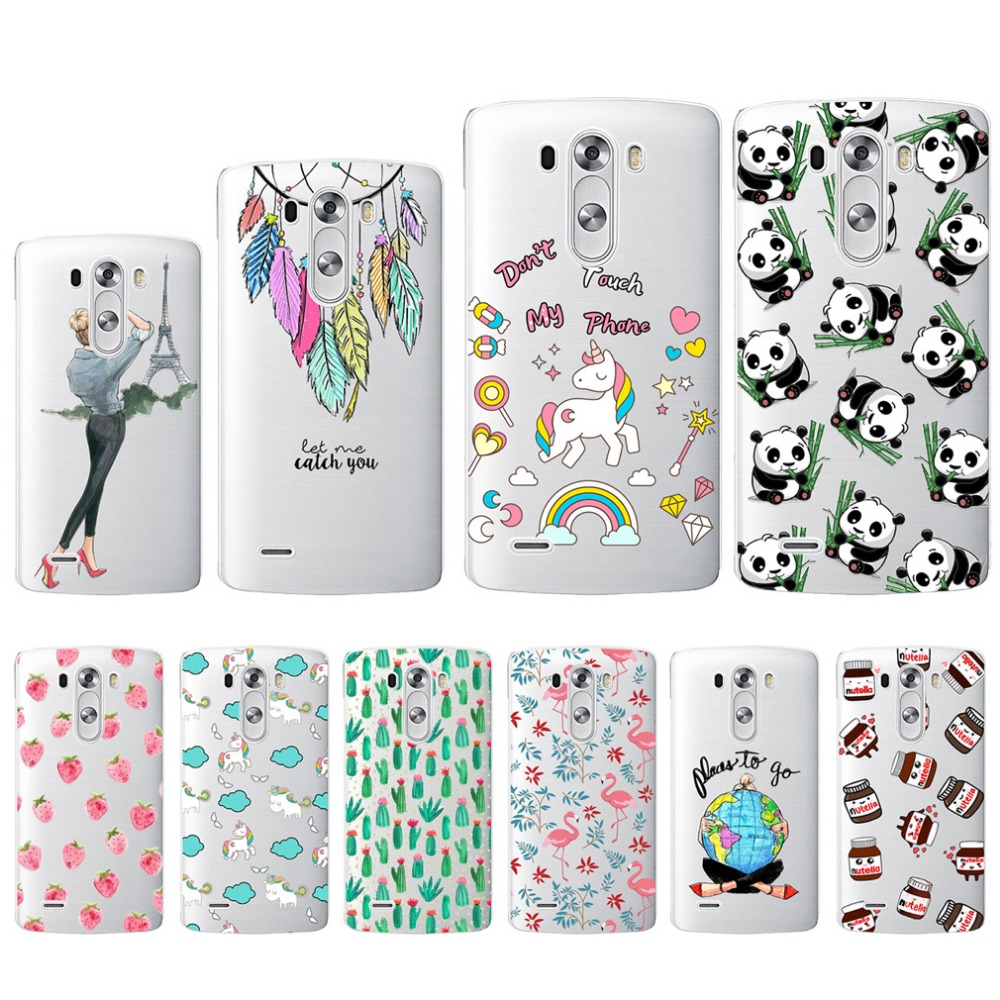 Soft Phone Case For LG G3 G4 K10 M2 LG X Power Case Cover Pating Soft Back Cover For LG D855 H815 K220 F670 Phone Case Fundas