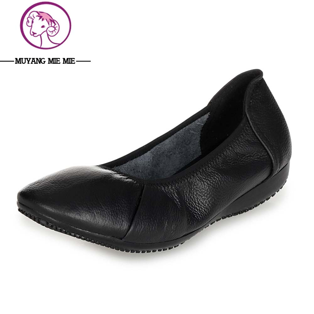 Nuevas Mujeres Trabajan Zapatos Tamaño Grande 35-43 Negro Zapatos de Un Solo Cue