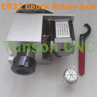 CNC Rotary As 4e As ER32 Spantang Overbrengingsverhouding 6:1 Scheidslijn Hoofd voor 3040/4060/6090 Mini CNC Router