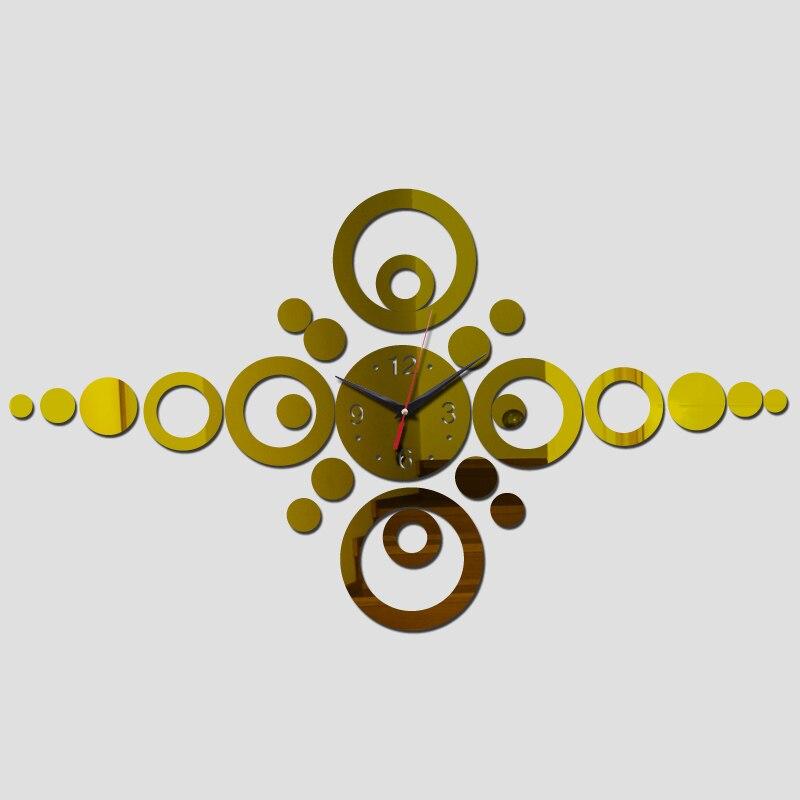 New Wall Clocks Real Rushed Acrylic 3d Mirror Acrylic Clocks Quartz Brief Design Home Decoration Wall Sticker