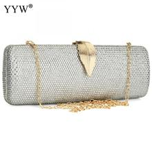 Resin Rhinestone Long Evening Clutch Bag Trendy Crassbody Bags With Chain Clutches Purse Pink Sliver Women'S Bags Party Wedding 2018evening bags and clutches for women with rhinestone for wedding and party messenger bag with chain