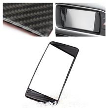 Audi için Q5 2009 2010 2011 2012 2013 2014 2015 2016 2017 karbon Fiber araba Styling navigasyon pano paneli ScreenFrame kapak