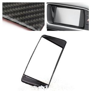 Image 1 - For Audi Q5 2009 2010 2011 2012 2013 2014 2015 2016 2017 Carbon Fiber Car Styling Navigation Dashboard Panel ScreenFrame Cover