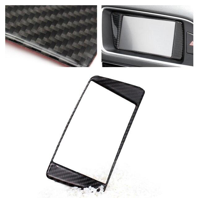 Panel de fibra de carbono para salpicadero de coche, cubierta de marco de pantalla, para Audi Q5, 2009, 2010, 2011, 2012, 2013, 2014, 2015, 2016, 2017