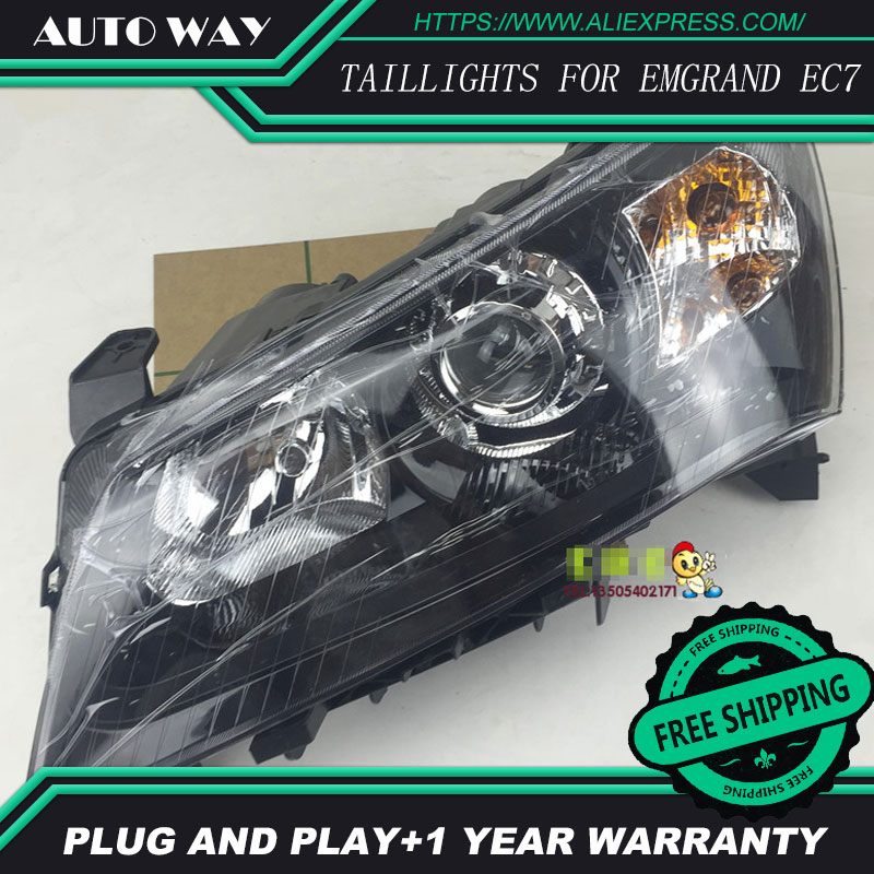Free shipping ! Car styling LED HID LED headlights Head Lamp case for GEELY EMGRAND EC7 EC718 EC7 2014-2016 Bi-Xenon Lens free shipping 50w car lamps headlights 1 set h8 h9 h11 led headlights car 1set hot sale