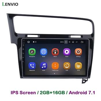 Lenvio 2G RAM Android 7.1 CAR DVD GPS Navigation Player For VW Volkswagen GOLF 2013 2014 2015 2016 Quad Core Radio head unit IPS