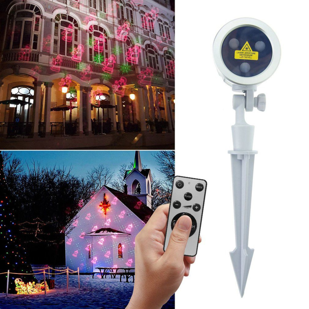 Professional Laser Projector Light Christmas Waterproof Colorful Stage Lamp + RF Remote Halloween Thanksgiving Decor US/EU Plug free shipping us plug outdoor ip65 waterproof stage light christmas lights xmas light projector christmas uk us eu plug xx