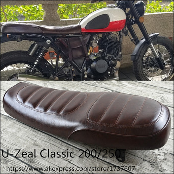 U200.250  Motorcycle Seat Cushions   brown Vintage motorcycle saddle for U 200.250 Motorcycle frame accessories