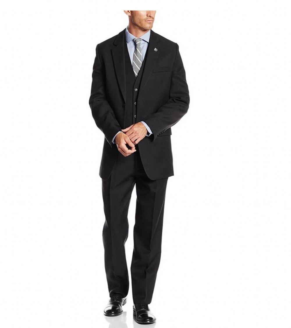 Guapo 2018 Customized Groom Tuxedos Groomsmen El mejor traje de - Ropa de hombre - foto 4