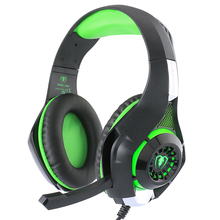 Gaming Headset for PS4 PSP PC Headphone Tablet Laptop Microphone, 3.5mm Headband Led Light GM-1 Headphone with Adapter Cable