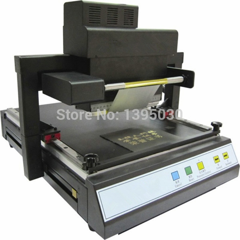 JT-219 Digital Automatic Flatbed Printer Flat Gilding Press Machine Hot Foil Printing Stamping Machine For A3 A4 Book Covers gilding press bronzing hot foil stamping machine