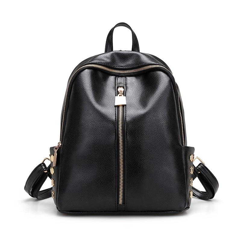 New EW20 Fashion Women Backpack High Quality PU Leather Backpacks for Teenage Girls Female School Shoulder Bag Bagpack