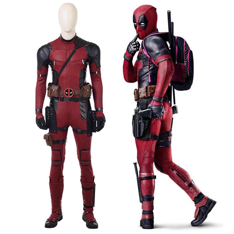 Marvel Cosplay Full Body Deadpool Costume Adult Halloween Digital Print Leather Costume Kids Deadpool Cosplay Jumpsuit Quality