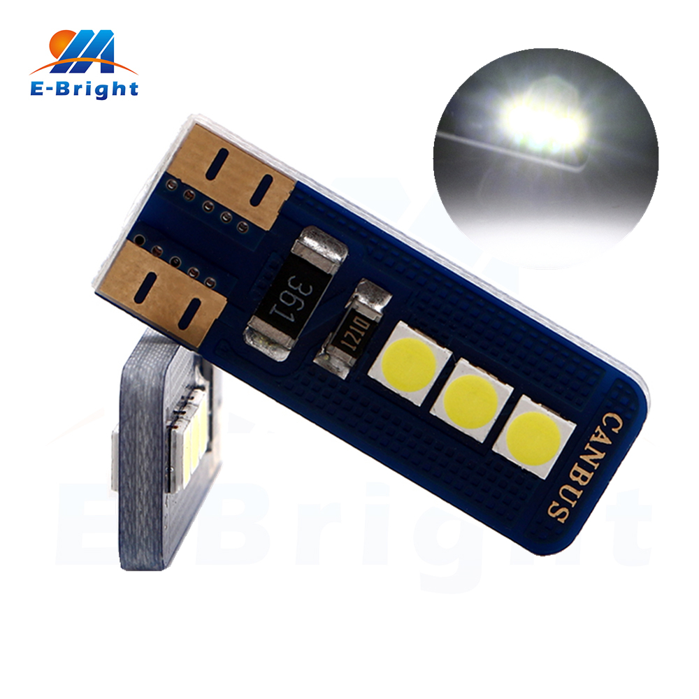 Automobiles & Motorcycles Hot Sale 20/100pcs Error Free T10 W5w Canbus 3030 6 Smd Led Bulb Indicator Tail Signal Lamp Car Door Lights 6500k White 12v