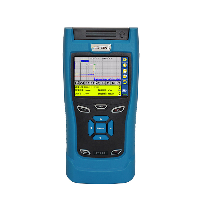 G-LINK TR306 Fiber Optical OTDR Tester 1310/1550+VFL 32/30dB handheld OTDR Optical Time Domain Reflectometer 3MW VFL By DHL