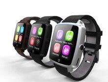 Wasserdichte SmartWatch Lederband Smart Watch Unterstützung Sim-karte Bluetooth-konnektivität Sync Notifier für Apple Android Telefon