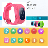 2016Q50 Kids Smart Watch GPS LBS Double Location Safe Children Watch Activity Tracker SOS Card For