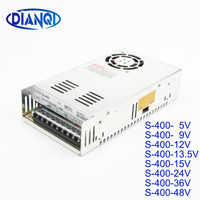 DIANQI S-400W 5V 9V 12V 13.5V 15V 24V 36V 48V Single Output Switching power supply High Quality AC to DC Power Supply