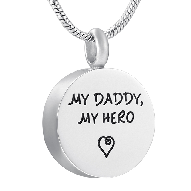 forever cremation item customized lockets stainless hero engraved steel round my ashes for heart daddy