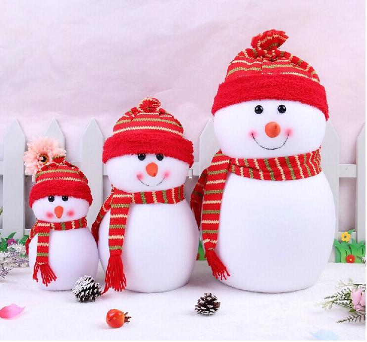 Christmas Snowmen Decorations.Outdoor Christmas Decochritmas Small Snowman With Colorful For Chrismas Cute Christmas Scene Decorations Santa Claus Snowman Xma Christmas Lawn