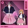 Temporada 4 nora valkyrie rwby cosplay traje de la navidad de halloween dress shirt + skirt + capa + cinturón + guantes + elbowsupporter