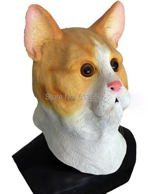 Realistic Yellow Deluxe Grumpy Cat Mask Latex Animal Full Head Mask for  Masquerade da520b085deb