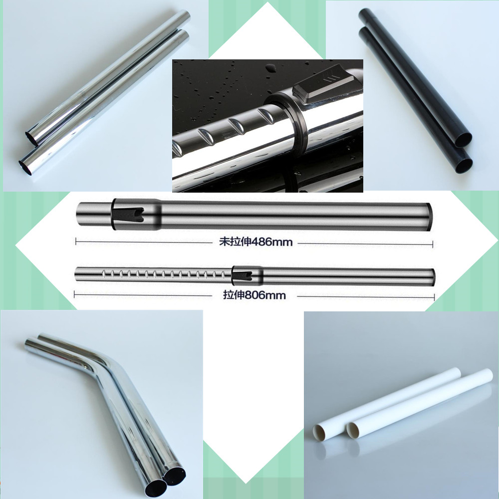 32mm 35mm Stainless steel /plastic Extension straight Tube Telescopic rod bending pipe for philips midea samsung universal part 5pcs adaptation for panasonic for philips vacuum cleaner accessories straight pipe telescopic straight extension tube