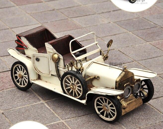 35 CM-Vintage fer métal TOP COOL Pure main rétro classique voitures modèle-maison bureau BAR haut style rétro décor art - 4