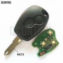 QCONTROL Car Remote Key Suit for Renault Duster Logan Fluence Clio Vivaro Movano Master Traffic Kangoo Megane Laguna