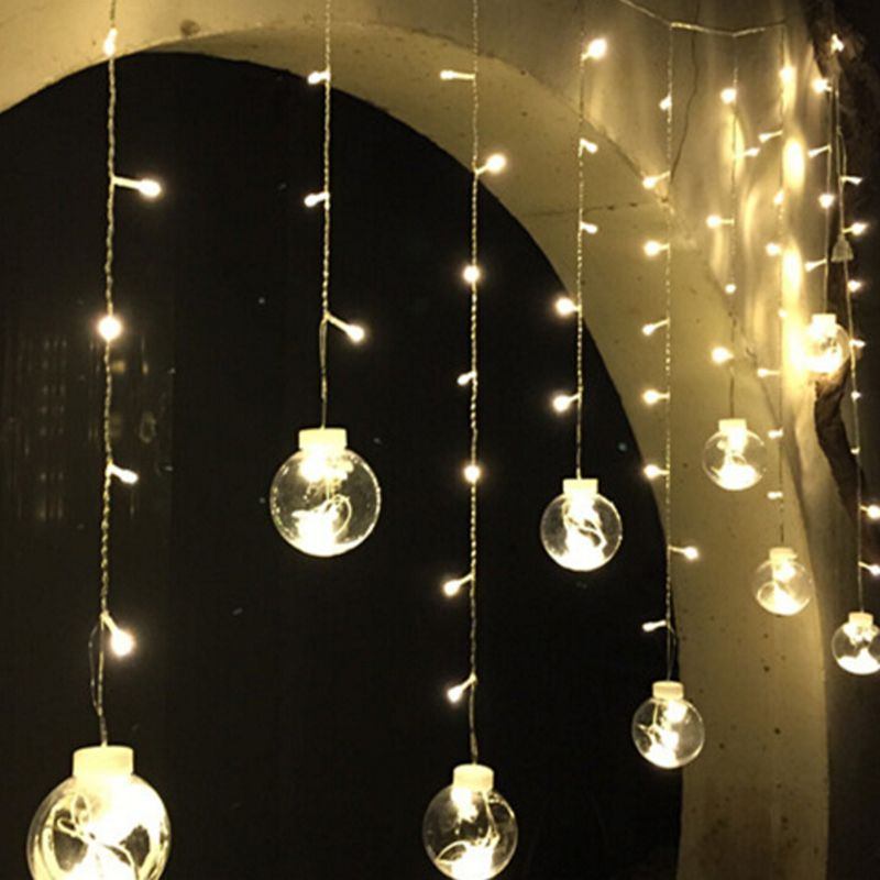 String Lights Indoor Decoration Ideas : Aliexpress.com : Buy 120 LED Christmas Lights Indoor Curtain Fairy String Light Wedding ...