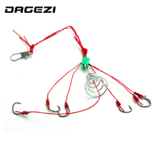 DAGEZI 2pcs/lot Fishing Hooks  Explosion hook Capture off Carbon Steel Sharp Fishhook fishing Tackle Tool Set