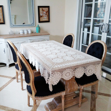 yazi Handmade Cotton Hollow Floral Tablecloths Thread Crochet Table Cover Sofa Piano Decorative Cover 3 Size