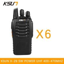 6PCS BUXUN X-29TFSI Walkie Talkie 5W Handheld Pofung UHF 5W 400-470MHz 16CH Two way Portable CB Radio