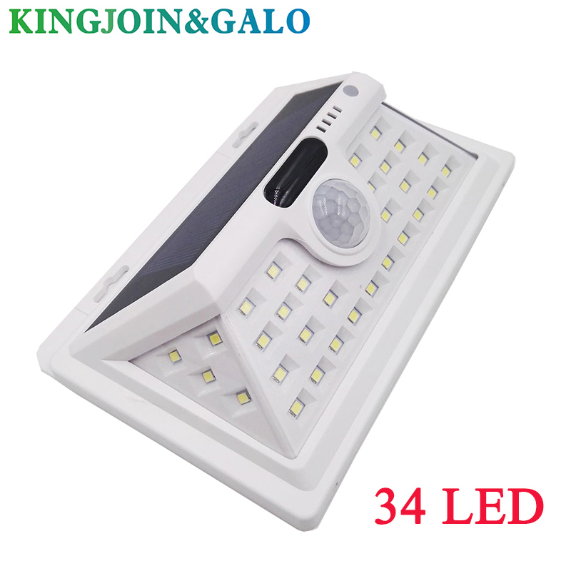 Solar Lights Outdoor Motion Sensor Night Security Wall Lamp  34 LED Waterproof Energy Saving Garden Front Door Yard