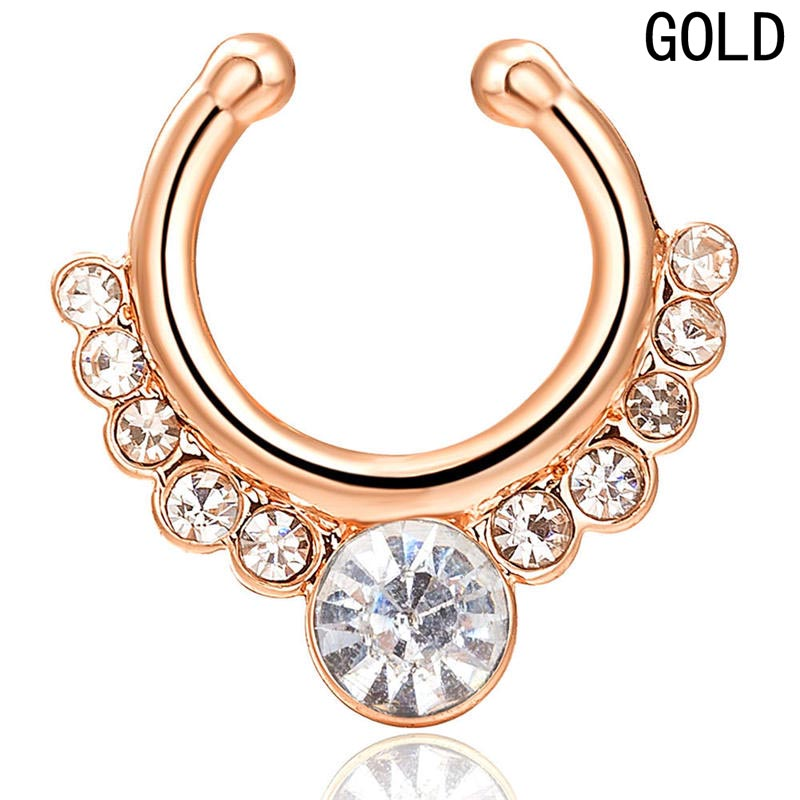 Hot Sale Piercing Nose Ring Hoop For Women Clip Body Jewelry Studs European & American Sexy